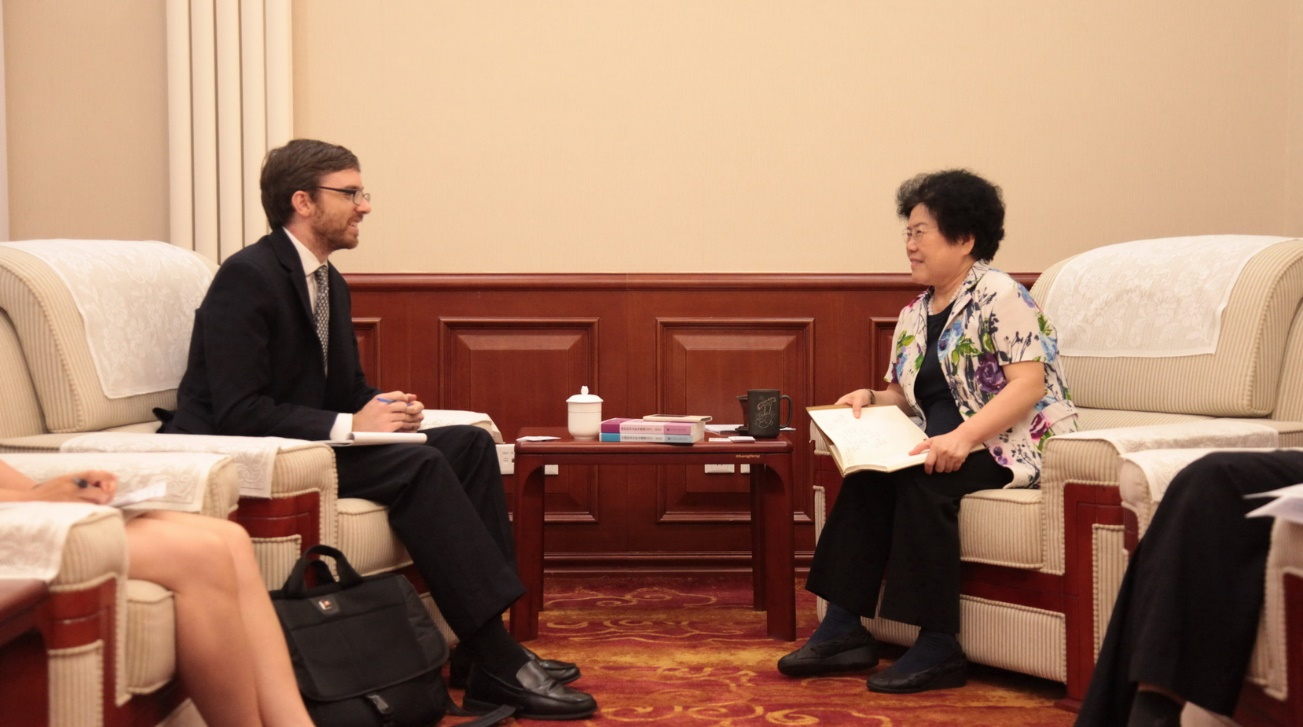 Chief Economist Chen Wenling Meets with US Federal Reserve Economist Dr. Ryan Monarch