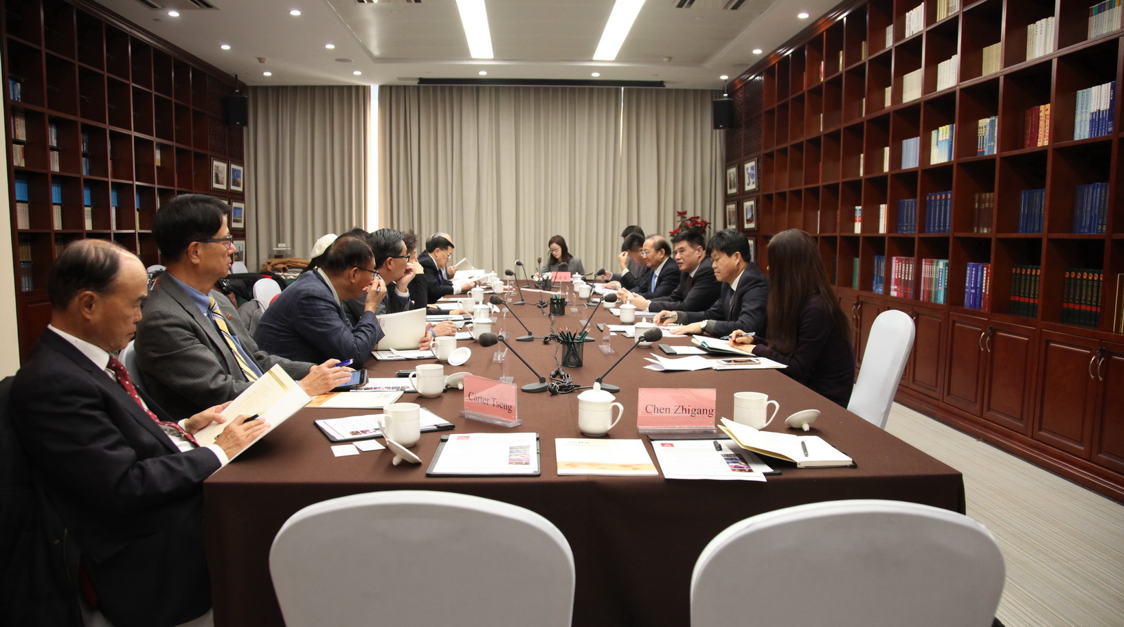 Zhang Xiaoqiang Meets with the Committee of 100 Delegation