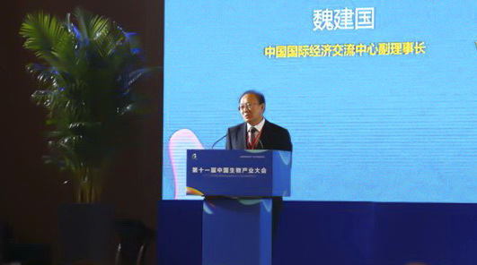 CCIEE Vice Chairman Wei Jianguo Addresses the 11th China Bio-industry Conference and the 3rd China Optics Valley International Life and Health Industry